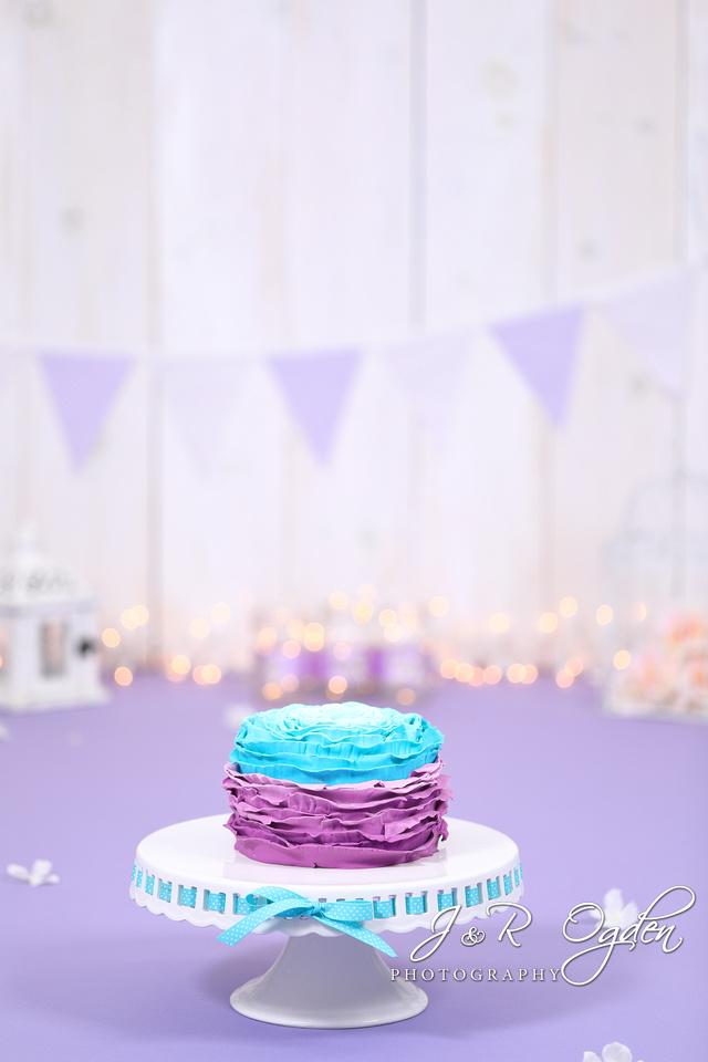 Purple themed cake smash - Bangor Region Maine