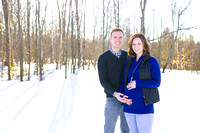 Winter Maternity Photographs in Bangor Maine