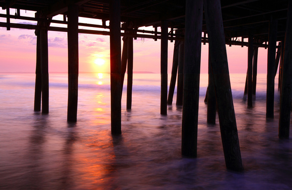 Old Orchard Beach Pier Sunrise - Maine