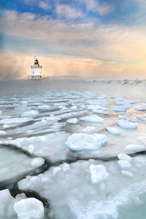 Spring Point Ledge Lighthouse in South Portland, Maine - Sea Smoke