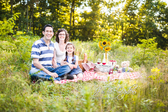Family Picnic Photography in Bangor Maine